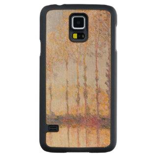 Coque En Érable Galaxy S5 Case Peupliers de Claude Monet | sur les banques de