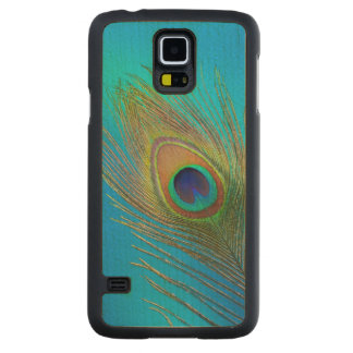 Coque En Érable Galaxy S5 Case Plume de queue de paon
