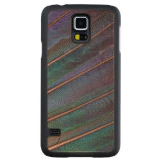 Coque En Érable Galaxy S5 Case Plumes bleues de Turaco