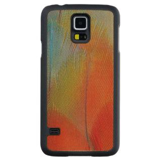 Coque En Érable Galaxy S5 Case Plumes Faucon-Dirigées de perroquet