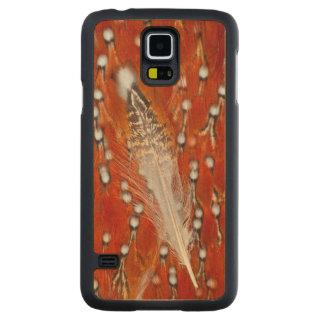 Coque En Érable Galaxy S5 Case Plumes rouges de Tragopan