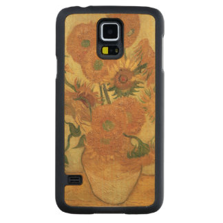 Coque En Érable Galaxy S5 Case Tournesols de Vincent van Gogh |, 1889