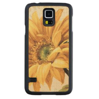 Coque En Érable Galaxy S5 Case Un tournesol en pleine floraison