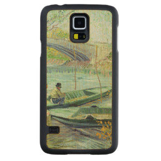 Coque En Érable Galaxy S5 Case Vincent van Gogh | pêchant au printemps