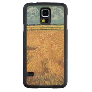 Coque En Érable Galaxy S5 Case Wheatfield de Vincent van Gogh | avec des gerbes,