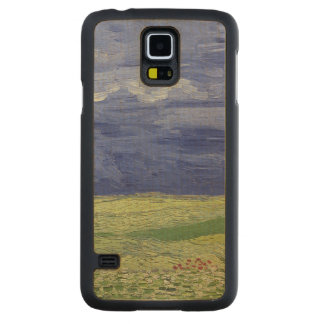 Coque En Érable Galaxy S5 Case Wheatfields de Vincent van Gogh | sous le nuage