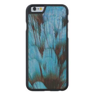 Coque En Érable iPhone 6 Case Abrégé sur à capuchon bleu plume de Pita