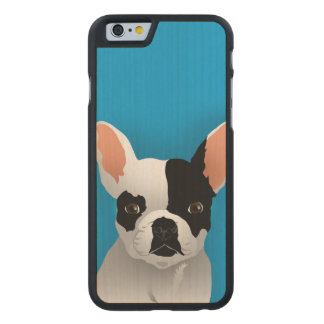 Coque En Érable iPhone 6 Case Art de bouledogue - bouledogue français