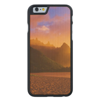 Coque En Érable iPhone 6 Case Coucher du soleil d'or de plage, Hawaï