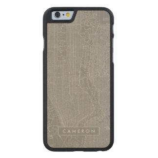 Coque En Érable iPhone 6 Case Croquis de carte de New York City