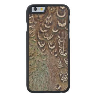 Coque En Érable iPhone 6 Case Détail de plume de faisan de Melanistic