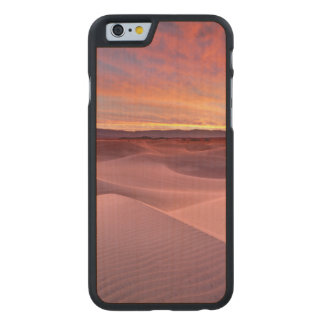 Coque En Érable iPhone 6 Case Dunes de sable roses, Death Valley, CA