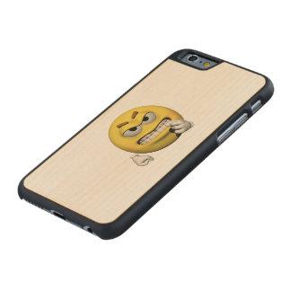 Coque En Érable iPhone 6 Case Émoticône fâchée jaune ou smiley