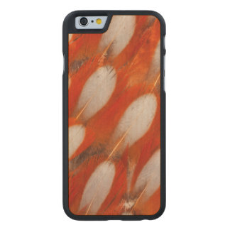 Coque En Érable iPhone 6 Case Fermez-vous des plumes de Tragopan