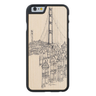 Coque En Érable iPhone 6 Case Golden Gate
