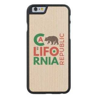 Coque En Érable iPhone 6 Case La Californie avec le logo d'ours gris
