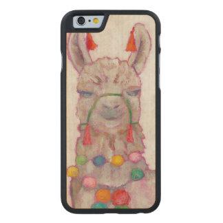 Coque En Érable iPhone 6 Case Lama de festival d'aquarelle