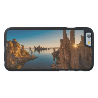 Coque En Érable iPhone 6 Case Lever de soleil au lac mono, la Californie