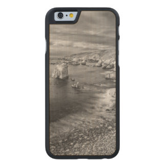 Coque En Érable iPhone 6 Case Littoral de plage de B&W, la Californie