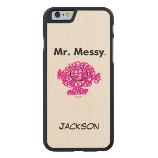 Coque En Érable iPhone 6 Case M. Messy Is Cute de M. Men |, mais malpropre