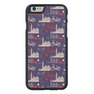 Coque En Érable iPhone 6 Case Motif de points de repère de Londres