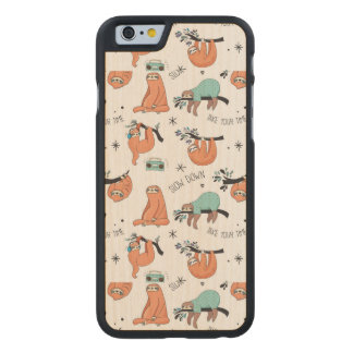 Coque En Érable iPhone 6 Case Motif mignon de paresse