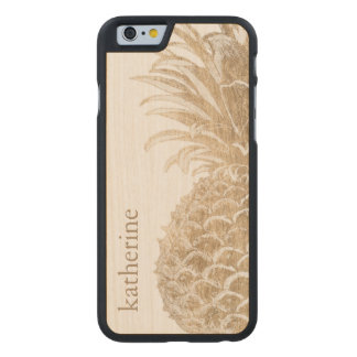 Coque En Érable iPhone 6 Case Or Pinneapple tropical