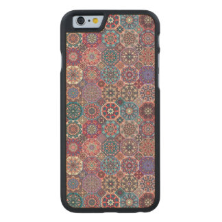 Coque En Érable iPhone 6 Case Patchwork vintage avec les éléments floraux de