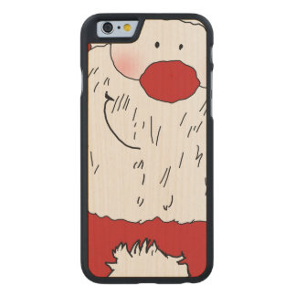 Coque En Érable iPhone 6 Case Père Noël de rougissement mignon