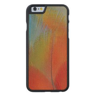 Coque En Érable iPhone 6 Case Plumes Faucon-Dirigées de perroquet