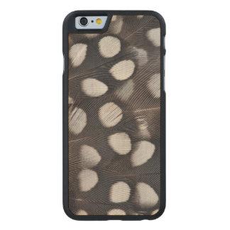 Coque En Érable iPhone 6 Case Plumes repérées de cailles de Mearns