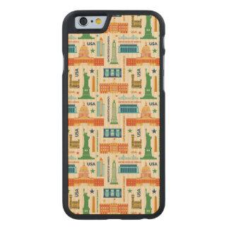 Coque En Érable iPhone 6 Case Points de repère des Etats-Unis d'Amérique