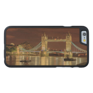 Coque En Érable iPhone 6 Case Pont de tour la nuit, Londres