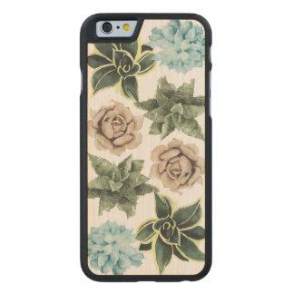 Coque En Érable iPhone 6 Case Rangée des Succulents