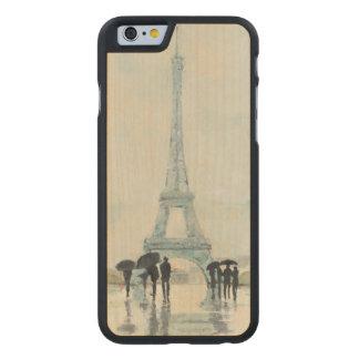 Coque En Érable iPhone 6 Case Tour Eiffel | Paris sous la pluie