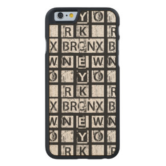 Coque En Érable iPhone 6 Case Typographie grunge de Bronx New York |
