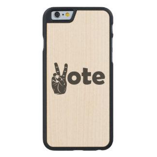 Coque En Érable iPhone 6 Case Vote d'illustration pour la paix