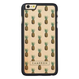 Coque En Érable iPhone 6 Plus Aquarelle tropicale d'ananas