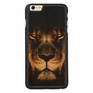 Coque En Érable iPhone 6 Plus Art africain de visage de lion