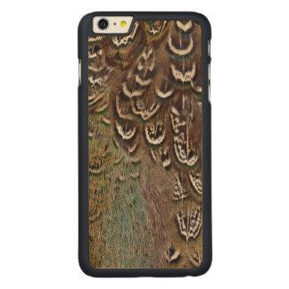 Coque En Érable iPhone 6 Plus Détail de plume de faisan de Melanistic