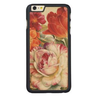 Coque En Érable iPhone 6 Plus La vue de jardin a jeté des fleurs en l'air