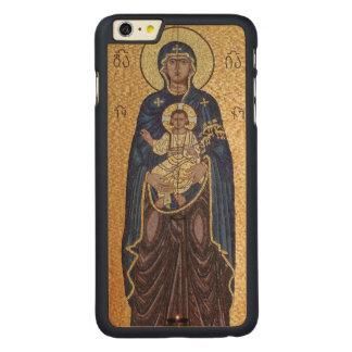 Coque En Érable iPhone 6 Plus Mosaïque de Mary et de Jésus
