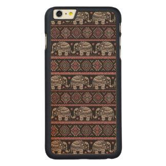 Coque En Érable iPhone 6 Plus Motif ethnique noir d'éléphant