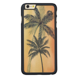 Coque En Érable iPhone 6 Plus Palmettes tropicales