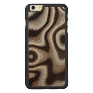 Coque En Érable iPhone 6 Plus Pierre noire et blanche de jaspe