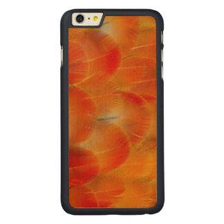 Coque En Érable iPhone 6 Plus Plumes oranges d'ara de Camelot