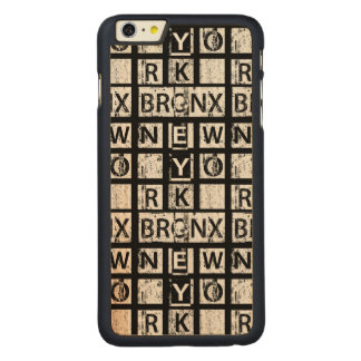 Coque En Érable iPhone 6 Plus Typographie grunge de Bronx New York |