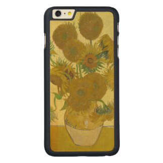 Coque En Érable iPhone 6 Plus Vase à Van Gogh avec quinze tournesols GalleryHD