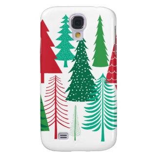 Coque Galaxy S4 arbres de Noël contemporains modernes