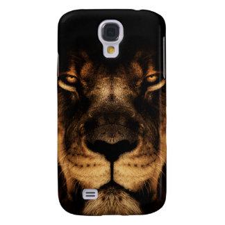 Coque Galaxy S4 Art africain de visage de lion